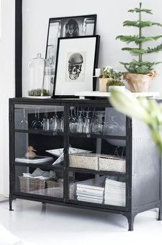 black buffet cabinet with glass doors / sfgirlbybay