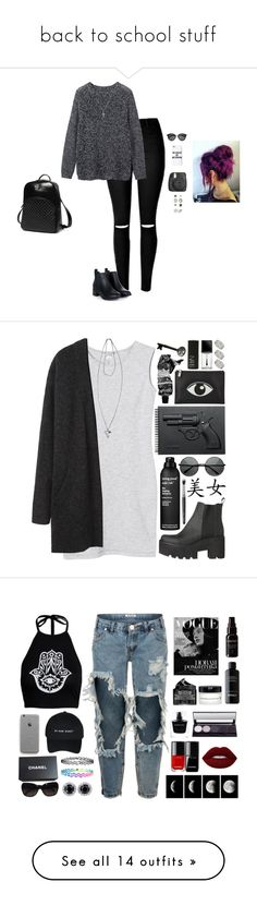 """back to school stuff"" by tytiana-harden ❤ liked on Polyvore featuring Toast, Missguided, Yves Saint Laurent, Topshop, Princess Carousel, Skagen, Monki, Acne Studios, Revolver and Kenzo"