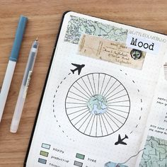 Bullet Journal et voyage : comment ça marche ? – Lisly s world Bullet Journal and travel: how does it work? – Lisly s world Bullet Journal Voyage, Bullet Journal Spreads, Bullet Journal Headers, Bullet Journal Travel, Bullet Journal 2019, Bullet Journal Inspo, Bullet Journal Layout, Journal Inspiration, Journal Ideas