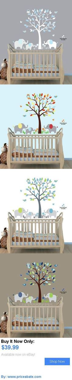 Baby Nursery: Elephant Tree Nursery Sticker Decal, Boys Room Wall Decor, Elephant Wall Art BUY IT NOW ONLY: $39.99 #priceabateBabyNursery OR #priceabate