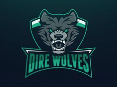 Dire Wolves Mascot Logo by Travis Howell for Creative Grenade