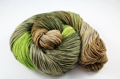 Across The Wild Moor - READY TO SHIP - 100g 400yd 2 ply Sock / Fingering Yarn 80/20 Superwash Merino Wool / Nylon - greens, silver, neutrals