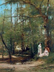 Munkácsy Mihály - A Pataknál, 1885 körül