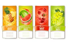 Buy Set of Fruit Labels in Juice Splashes by almoond on GraphicRiver. Set of labels of of fruit in juice splashes. Grape Juice, Fruit Juice, Fruit Splash, Yogurt, Froot Loops, Juice Packaging, Bottles For Sale, Fruity Drinks, Coffee Shop Design