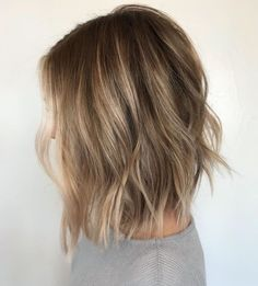 50 Gorgeous Wavy Bob Hairstyles with an Extra Touch of Femininity - 50 Gorgeous Wavy Bob Hairstyles with an Extra Touch of Femininity Choppy Dark Blonde Bob With Subtle Highlights Dark Blonde Bobs, Dark Blonde Balayage, Blonde Wavy Hair, Balayage Hair Bob, Balayage Long Bob, Medium Blonde Bob, Blonde Highlights Bob Haircut, Short Thick Wavy Hair, Short Light Brown Hair