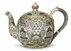 Faberge/Ruckert Teapot   Feodor Rückert, workmaster for cloisonné enamel in the Fabergé firm from 1887-1917