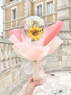 Balloon Box, Balloon Gift, Balloon Flowers, Balloon Bouquet, Diy Birthday Decorations, Balloon Decorations Party, Flower Box Gift, Flower Boxes, Baby Shower Balloons