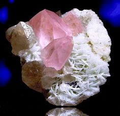 Beryl var. Morganite! The crystal is huge at 9 inches in length and incredibly gemmy. From the Nuristan Valley of Afghanistan.