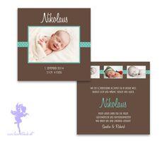 Babykarte+Geburtskarte+Nikolaus+von+Feenstaub+auf+DaWanda.com