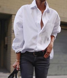 White Blouse Women Chiffon Office Career Blouse - All About Style Désinvolte Chic, Style Casual, Casual Chic, Casual Outfits, Fashion Outfits, Trendy Style, White Shirts Women, Blouses For Women, White Women