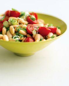 white bean & tomato salad, via martha stewart