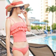Frilled Tankini Set