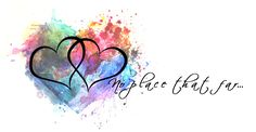 two hearts with watercolor heart background hoping I can find someone who can do this... No place that far...