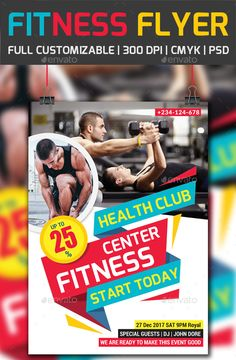 GymFitness Flyer Bundle  Gym Fitness Flyer Template And Template