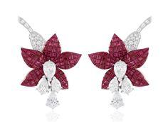 Fuschia earrings, Van Cleef & Arpels collection