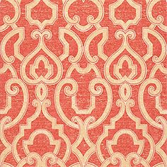 Barrowgate Wallpaper and printed fabric in Spice from the Gatehouse Collection by #Thibaut  #tangerinetango #stonytrellis
