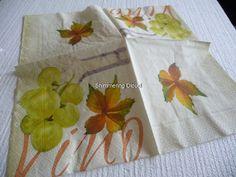Paper Napkins leaves Decoupage Scrapbooking by ShimmeringCloud, $2.80