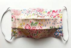 Items similar to Organic Surgical Face Mask/ eco friendly/ Travel Mask/ Pollen Dusk Allergy Mask/ Vintage Blossom Flowers on Etsy Diy Mask, Diy Face Mask, Face Masks, Sewing Crafts, Sewing Projects, Pocket Pattern, Blossom Flower, Pet Grooming, Mask Design