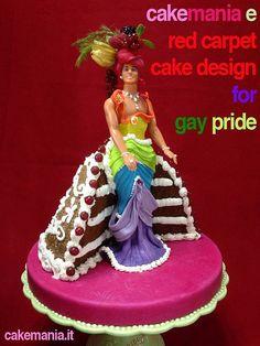 Gay Pride Cake by Davide Francesca of Red Carpet Cake Design® Holiday Cakes, Holiday Decor, Bakery Box, Carmen Miranda, Cookie Pie, Sugar Art, Gay Pride, Let Them Eat Cake, Yummy Cakes