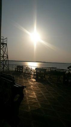 #Gautami ghat #godavari river #rajahmundry #AP #India visit: http://kvrtoursandtravels.com/ to sail on godavari