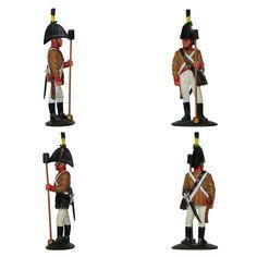 """Artillero austriaco - 1809 (Colección """"Soldados de las Guerras Napoleónicas"""" editada por delPrado - 60 mm)"""
