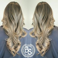 beige blonde balayage ombre with an ash brown base by Linh Phan of Be Scene Hair Studio