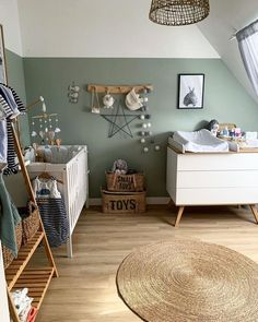 Child boy bed room in gren,house design inspirations Baby Room Art, Baby Nursery Decor, Baby Boy Rooms, Baby Bedroom, Kids Bedroom Boys, Modern Kids Bedroom, Kids Bedroom Furniture, Kids Boys, Bedroom Decor