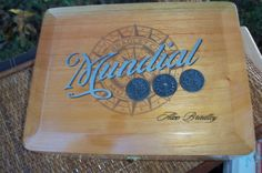 Cigar Box Mundial Metal Insets World Map Top by IndustrialPlanet