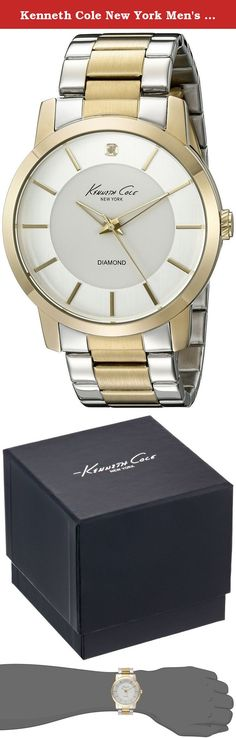 Kenneth Cole New York Men's 10020807 Genuine Diamond- Rock Out Analog Display Japanese Quartz Silver Watch. A luxurious gentleman is easily spotted by his fashion sense and adding this treasure of a timepiece to your collection will ensure that your style exceeds the criterion The New York kenneth Cole is undoubtedly the perfect illustration of a classy lads watch for many different reasons This is evident from the very start when one takes a look at the dapper silver and gold band thats...