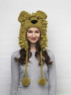 Kids will love this                                            Knitted lion hat