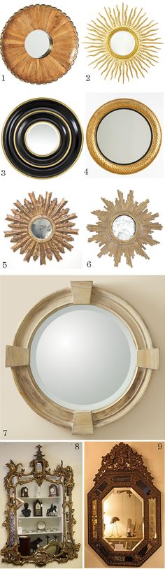 round mirrors  Good Bones, Great PIeces