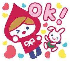 Popular Sticker filling of the daily life's conversation a friend and a sweetheart can use. Heart Button, Line Store, Line Sticker, Red Riding Hood, Little Red, Line Me, Anna, Lily, Kids Rugs
