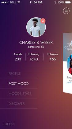 02 menu Ux User Experience, Tracking App, Ui Inspiration, App Ui, Ui Ux Design, Mobile Ui, User Interface, Design Elements, Menu