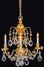 Miniature WORKING chandelier. At $120, in my dreams...