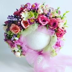 🌸Flower bonnet 🌸  #sitterbonnet #photoprops #sitter #sittersession #vintageinspired #newbornshoot #flowerbonnet #flowerbonnets… Floral Wreath, Wreaths, Flowers, Home Decor, Floral Crown, Decoration Home, Door Wreaths, Room Decor, Deco Mesh Wreaths