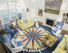 Nautical Themed Living Rooms