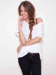 Growing my hair out to about this length. Love the braid, too. So easy and pretty.
