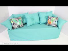 My froggy stuff american girl doll couch
