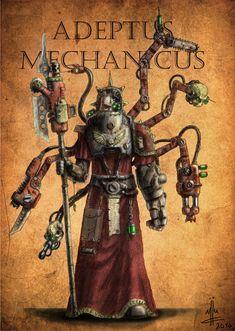 adeptus_mechanicus_priest_by_dahaer, Adeptus Mechanicus, character art