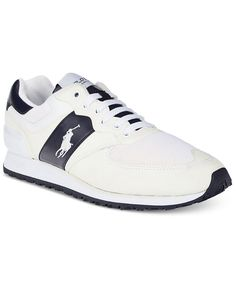 Polo Ralph Lauren Men\u0026#39;s Slaton Pony Sneakers