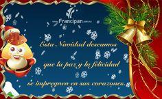 Mensaje de buenos deseos para la Navidad.