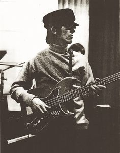 This is George playing a 1964 Nu-Sonic Bass