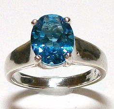 Swiss Blue Topaz Comfort Shank Ring s7 in by Michaelangelas, $69.50