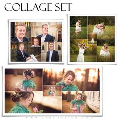 """Collages make best sellers! Add our New """"Pinwheel"""" Family Collage Set to your designs today. This exciting new """"Pinwheel"""" design will work for any occasion. Just add your favorite photos, embellish with some of our Word Art and print!"""