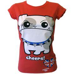 Newbreed Girl Cheers Bulldog T-Shirt | Gothic Clothing | Emo clothing... ($26) ❤ liked on Polyvore