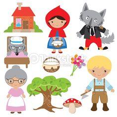 Vector Art : Little Red Riding Hood vector illustration Kids Science Fair Projects, Illustration Vector, Drawing Lessons, Red Riding Hood, Free Vector Art, Conte, Crochet Motif, Little Red, Clipart