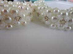 Bracelet FOLLOW ME.   Glass Pearl and SeedBeads.   Браслет Follow Me .
