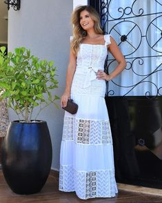 L Crochet Bathing Suits, Launch Pad, Off White, Mom Style, Cotton Dresses, I Dress, My Outfit, Ideias Fashion, Glamour