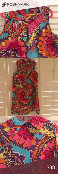 🌺🛍Lilly Pulitzer girl's dress- Size 14 🛍🦋💜Stylish Lilly Pulitzer shift style dress with folded color detailing.  Has a very 60's hip look to it. Print has large colorful flowers and butterflies.  Great party dress!  Runs big and would be comparable to a ladie's Xs or S. Mint condition!!  100% cotton, fully lined.  Smoke-free/pet-free home. 💜🦋 Lilly Pulitzer Dresses Casual
