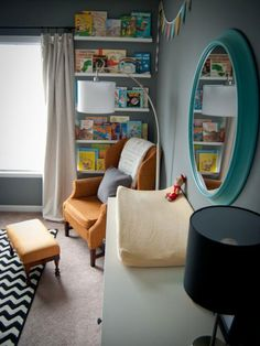 Use Books as Decor - Thrifting and Upcycling for Kids' Room Decor on HGTV NATE'S NEW BEDROOM?
